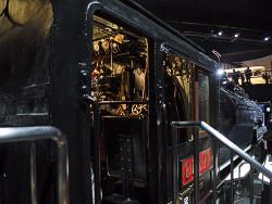C62形蒸気機関車運転席